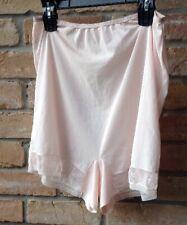 "Pink Nylon Granny Bloomers Underwear Women Sz Xl? 32""-44"" W Sherman Vtg 50s"