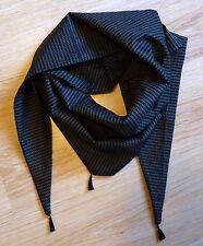 Écharpe Chèche Trangulaire 100% Coton Fait Main 110 x 50 cm avec pompoms