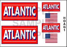 ATLANTIC GASOLINE HO SCALE 1/87 LAYOUT DIORAMA MODEL TANKER TRUCK DECALS HOAG1