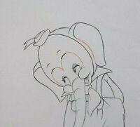 "Rare 1936 Walt Disney "" Elmer Elephant "" Animation Production Drawing #44"