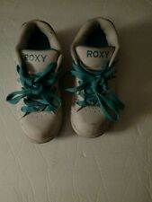 ROXY Low White Teal Girls Sneakers Shoes Size 1