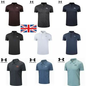 NEW Under Armour Mens UA Golf Sports Polo Shirt Smooth Shirts Tops UK