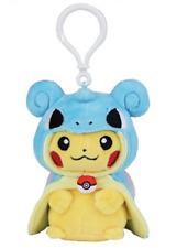 AUTHENTIC Pokemon Center Singapore Pikachu with Lapras Poncho EXCLUSIVE KEYCHAIN