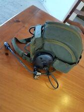 Vintage Pilot Helmet Air Force Flight Microphone Medium/Large Nice!
