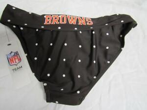 Cleveland Browns Womens Small Screened Polka Dot Tankini Bottom C1 12