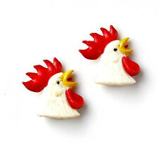 Rooster Cufflinks - Business Gift - Christmas Present - Handmade - Gift Box