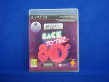 ps3 SINGSTAR Back To The 80s Very RARE Game 80's Playstation PAL UK REGION FREE