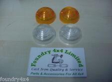 Land Rover Defender Front Indicator / Side  Light Lens Kit  FK0262