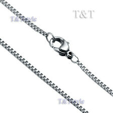 Steel Box Chain Silver (C36) Unique T&T 1.5mm 316L Stainless