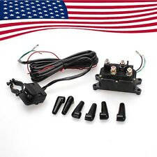 New 12V Contactor & Winch COMBO Solenoid Relay Rocker Thumb Switch For ATV UTV