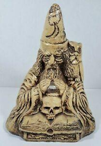 Matchless Grove Vintage Wizard, Owl, Skull Candle Holder, Jason Christoble 1981