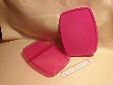 TUPPERWARE Frühstücks-Box in pink, feste Unterteilung, 1 Liter -Sonderprodukt-