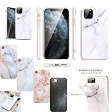 For Apple iPhone 11 Pro 7 8 XS XR Plus Shockproof Marble Design TPU Gel Case