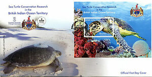 Brit Ind Ocean Ter BIOT 2016 FDC Sea Turtle Research 1v M/S Cover Turtles Stamps