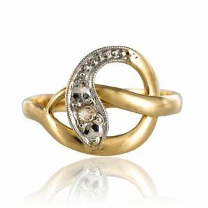 Bague ancienne serpent diamants Or jaune Bestaire Napoléon III Bijoux anciens