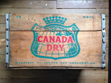 Vintage 1966 CANADA DRY GINGER ALE Metal Edged Wooden Crate