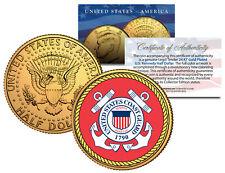 United States Coast Guard *emblem* 24k Gold Plated JFK Half Dollar Coin Military
