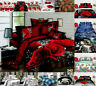 New 3D Effect 4 Piece Printed Duvet Quilt Cover Double King Complete Bedding Set
