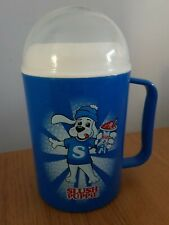 Blue Slush Puppie Cup Plastic With Internal Freezable Ice Pack Cooler Drinks
