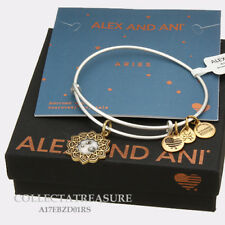Authentic Alex and Ani Two Tone ARIES RG/RS Expandable Bangle