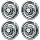 "4 PC Hubcaps Fits Chevy GM 15"" Silver Bolt In Replacement Wheel Rim Cover"