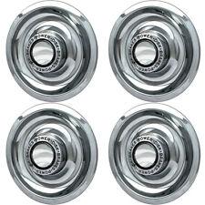 """4 PC Hubcaps Fits Chevy GM 15"""" Silver Bolt In Replacement Wheel Rim Cover"""