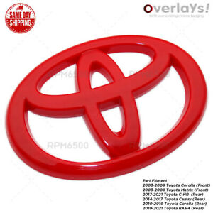 Toyota Camry C-HR Corolla Matrix Trunk Lid Front or Rear Overlay Cover Emblem