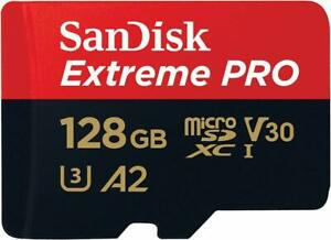 SanDisk Extreme Pro microSDXC 128Go Class 10 UHS-I U3 V30 170Mo/s A2 FR
