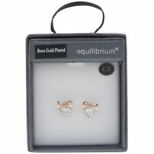 Rose Gold Plated Cubic Zirconia Drop/Dangle Costume Earrings