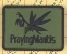 Pvc Green PrayingMantis Praying Mantis Morale Patch Military Army Paintball b9
