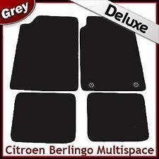 Citroen Berlingo Multispace 1996-2007 2-Clips Tailored LUX 1300g Car Mats GREY