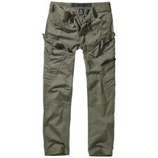 Brandit Adven Slim Fit Pantaloni Cotone Tattico Uomini Outdoor Escursioni Oliva