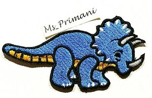 Embroidered Dinosaur Iron On Sew Patch t shirt jeans jacket badge 9.5 x 5 cm