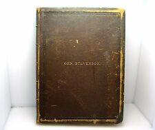 RARE GENERAL THOMAS G.STEVENSON OBITUARY BOOK WITH ORG. CDV W/FATHER SIGNATURE