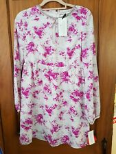 Fearne Cotton Dress 10 BNWT Pink detail with hand embellished neck beading