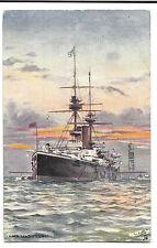 HMS Magnificent PPC, Tuck Oilette, Pre Dreadnought Battleship, 1914 PMK