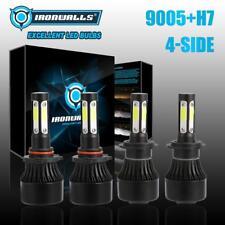 4-Side H7+9005 LED Headlight Bulbs For Mazda 3 2007-2009 Mazda 6 2011-2013 Hi-Lo