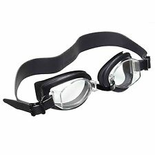Exeze Swimming Goggles - Extra wide strap - Anti Fog - UV Protectant - Black