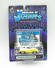 Muscle Machines '54 Nash Metropolitan Yellow Diecast Car 1:64 New Free Ship