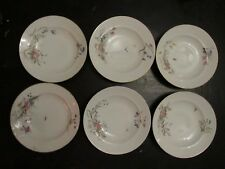 HAVILAND LIMOGES 1880 CH FIELD CFH/CDM FLORAL/BUTTERFLY LG BOWL SET OF 5