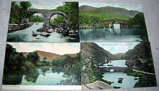 Lot of 4 Vintage Killarney Scenic Irish Postcards