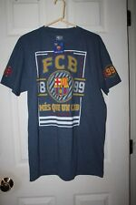 Fc Barcelona- 60% Cotton/ 40% Polyester Short Sleeve T-Shirt-L