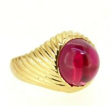 Ring Chevaliere Vintage Years' 60 IN Yellow Gold Solid 18 Carats