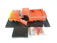 Road Champs 1959 Chevy El Camino Orange with Flames 1:43 Scale w/ Display Case