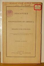 EDWARD EVERETT Signed PRESENTATION Copy Pamphlet - Discovery... of America 1853