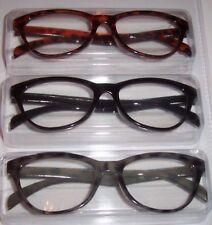 NEW Betsey Johnson 3 PR Reading Glasses Brown/Black/Gray TORTOISE Readers +1.50
