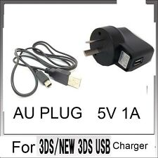 AU POWER AC CHARGER CABLE FORr Nintendo DSi NDSi DSiXL 3DS 3DSXL/LL NEW3DS /BX