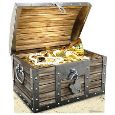 PIRATE TREASURE CHEST Prop CARDBOARD CUTOUT Standup Standee Poster FREE SHIP
