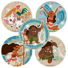 25 Moana Glitter STICKERS Party Favors Supplies for Birthday Treat Loot Bags