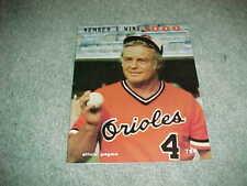 1979 Baltimore Orioles v New York Yankees Baseball Program Earl Weaver 1000th
